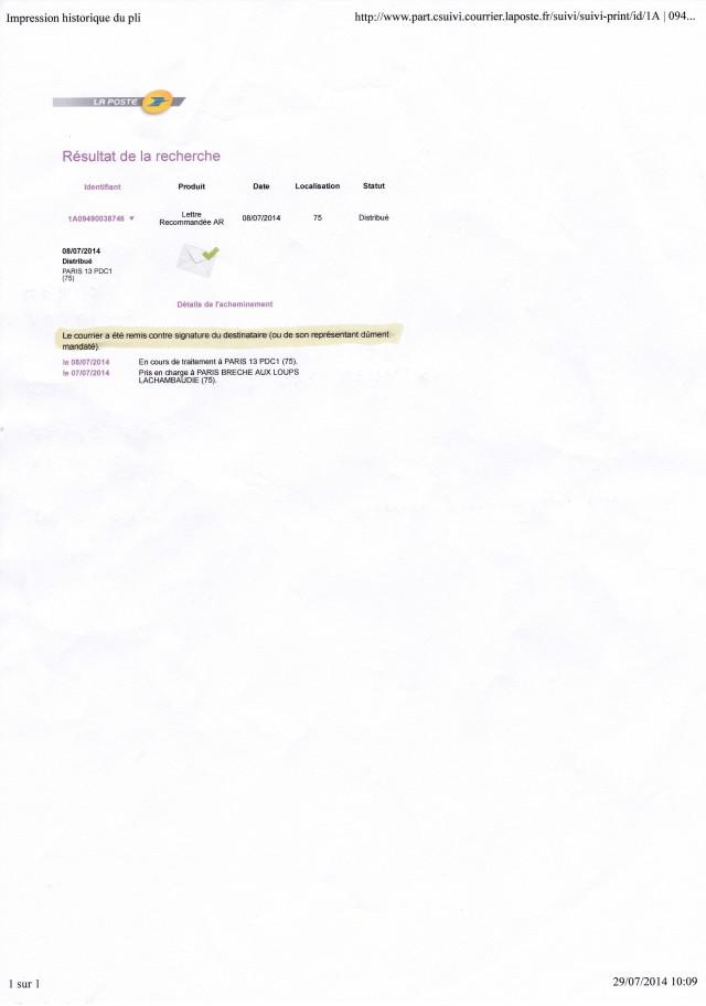 2014_07_08_LRARhépatologie Pitié Remise au destinataire